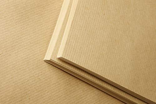 Clairefontaine 975001C Ries Kraftpapier (ideal für Trockentechnicken, 120 g DIN A4, 21 x 29,7 cm, 25 Blatt) kartonbraun