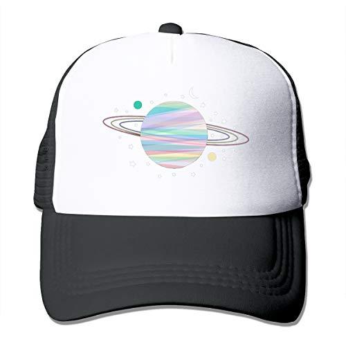 Zhgrong Saturn Planet Mesh Gorra Negra para Exteriores Sombrero de papá Gorra de algodón Suave