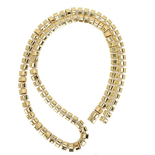 Decorative Chain, Bright Color and Shiny Metal Claw Chain, for Home Necklaces Wedding Dresses Clothes(12mm Golden Steamed bun Chain)