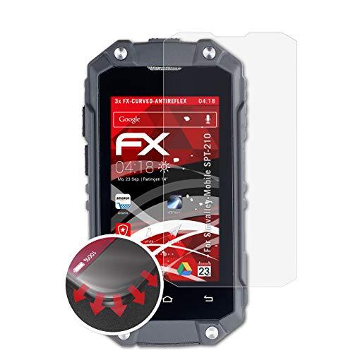 atFolix Schutzfolie kompatibel mit Simvalley-Mobile SPT-210 Folie, entspiegelnde & Flexible FX Bildschirmschutzfolie (3X)
