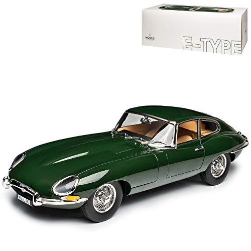 Jaguar E-Type Coupe Grün 1961-1974 1/12 Norev Modell Auto mit individiuellem Wunschkennzeichen