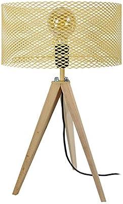 Tosel 65657 lampada da tavolo, 1 Luce, legno, e27, 40 W