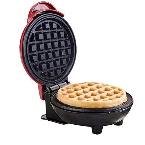Zubita Piastra per Waffle, Macchina per Waffle Elettrica Antiaderente con Indicatori Luminosi, Avvolgicavo, Acciaio Inossidabile Adatta per Casa, Cucina, Pancake, Colazione veloce (350W EU)