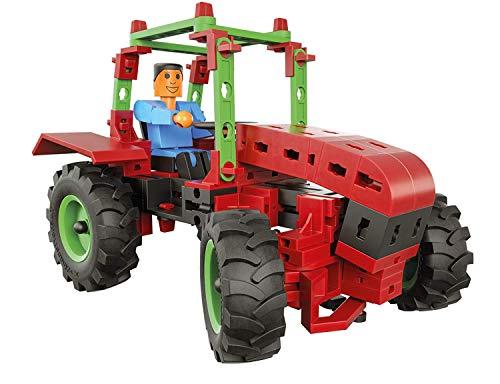 fischertechnik 544617 Tractor - Konstruktionsspielzeug ab 7 Jahre - 3 landwirtschaftliche Modelle zum Thema Traktor - Die Fahrzeuge des Bausets verfügen über eine realitätsnahe Achsschenkel-Lenkung