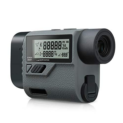 SUAOKI Telémetro de Golf 600m, 6x aumento, medición de rango y velocidad, ángulo y altura, Telémetro Prismático Profesional, con Compensación Balística, Bloqueo de Bandera (modelo PF3S)