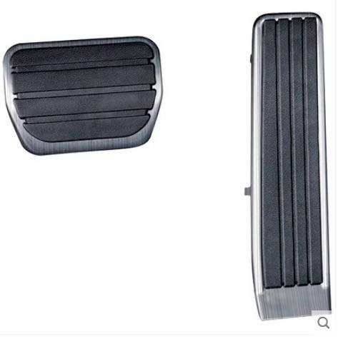 Armlehnen-Haltegriff Auto Accelerator Gaspedal Abdeckung Bremsfußpedal Pads Kraftstoff Bremskupplungspedal Fit for Mazda CX30 CX30 2020 2021 Autozubehör (Color Name : 2Pcs)