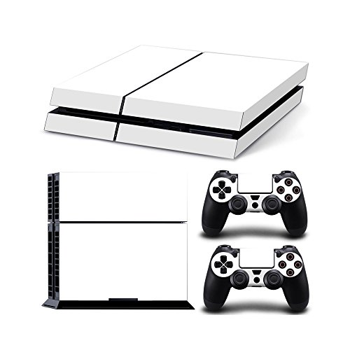 Gam3Gear Vinyl Sticker Pattern Decals Skin for PS4 Console & Controller (NOT PS4 Slim / PS4 Pro) - White