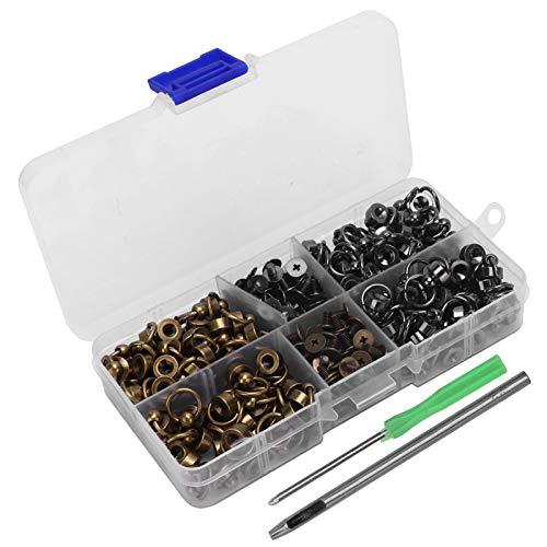 Leicht zu tragende D-Ring-Knöpfe mit D-Ring, Kugelbolzen-Nieten, einfache Installation Bastelwerkzeug für DIY-Zubehör zum Dekorieren von Häusern