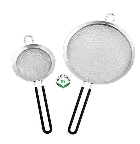 NewlineNY Stainless Steel Kitchen Tools Mesh Strainers 2 Pcs