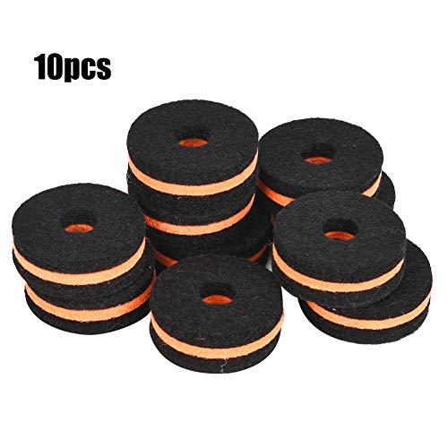 10 stuks ronde katoenen wastafel staan vilt sluitring pad vervanging zacht voor trommel Multicolor zwart oranje