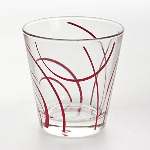 Table Passion - Gobelet forme basse 27 cl infinity rouge (lot de 6)