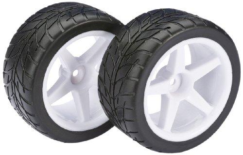 Absima - Wheel Set Buggy 5-Spoke/Street Rear White 1:10 (2) (2500008)