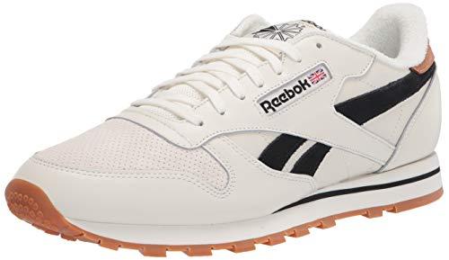 Reebok mens Classic Leather Sneaker, Chalk/Black, 10.5 US