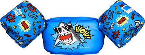 Dark Lightning Toddler Swim Vest, Best Baby Life Jacket for 30-51 Pounds, Kids Swimmies Floaties with Water Wings for Pool/Beach