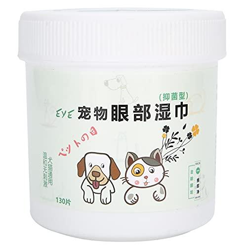 Toallita para orejas de perro, 130 piezas/botella, toallita removedora de lágrimas para perros, limpiador de ojos de gato, accesorio de limpieza de tejidos húmedos, toallitas para perros para patas y