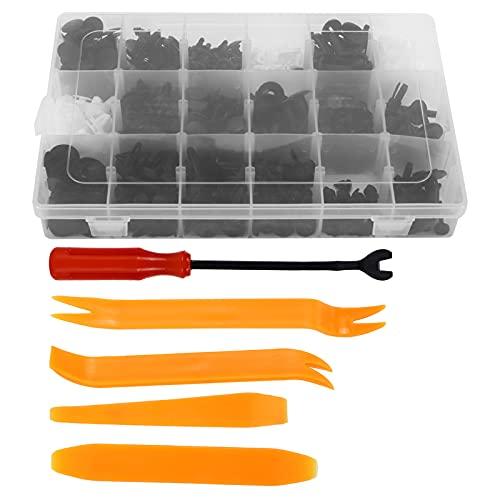 Kit surtido de clips de retención de empuje para coche de 415 piezas, sujetadores de parachoques con herramientas de extracción para varias marcas de coches