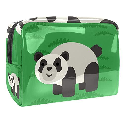 Tragbare Make-up-Tasche mit Reißverschluss, Reise-Kulturbeutel für Frauen, praktische Aufbewahrung, Kosmetiktasche, grüner Pandan