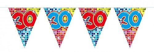 6m Verjaardag wimpel slinger ketting 30 jaar feestdecoratie verjaardag