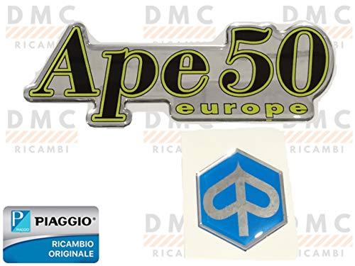 Kit de 2 logotipos adhesivos delanteros para Piaggio Ape 50 original Piaggio 264089-613927