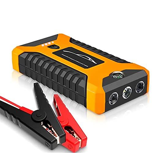 Arrancador de Batería de Coche 99800mAh 600A Peak Car Start Starter Batería De Litio con LED SOS Modo 12V Auto BATERY BOTERS Fácil de Conectar (Color : Yellow, Size : 99800mah)