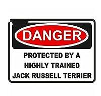 車 ステッカー犬 13Cm X9.5Cm危険犬用警告サイン車のステッカービニール素材デカールオクルージョンスクラッチデカール装飾