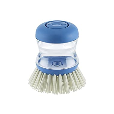 Kitchenaid Soap Dispensing Palm Brush, Ocean Blue