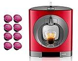 DOLCE GUSTO OBLO YY2291FD • Máquina de café manual 15 bar • Cafetera espresso y otras bebidas + regalo 8 cápsulas espresso (OBLO • Rojo)
