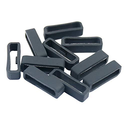 Hellery 10 x Ersatz-Verschlussring für Garmin Fenix 5 / 5s / 5X-Serie, Silikon, sichere Verschlüsse - 5 5Plus 22mm