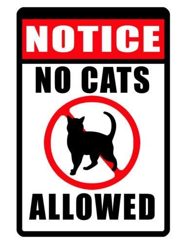 Jesiceny Great Tin Sign Aluminum No Cats Allowed Signurable Weather Proof Sign...