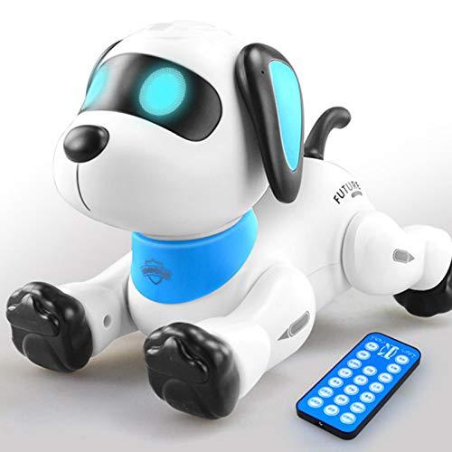 Perro de control remoto, juguete de control de voz robótico para cachorros de acrobacias, soporte de mano Push-up Robot electrónico programable para baile de mascotas con sonido, cumpleaños