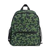 Green Camo School Backpack for Girls Kids Kindergarten School Bags Child Bookbag