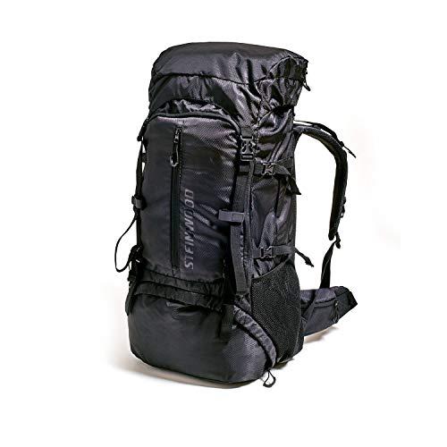 Steinwood Trekkingrucksack 70L – Wanderrucksack, Outdoor-Rucksack, Backpacker-Rucksack, wasserabweisend mit Regenhülle und Trinksystem