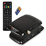 Red Opticum AX 300 Mini V3 - digitaler HD Satellitenreceiver / externer IR Sensor mit Display / 1080p Full HD / USB / HDMI / 12V Netzteil ideal für den Campingurlaub