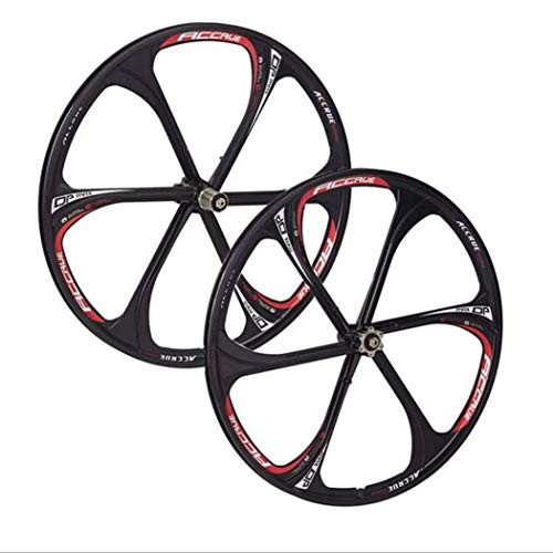 ALTRUISM Cerchi in Lega di Magnesio 26 Pollici Ruote Bici da Mountain Bike Mountain Bike, MTB Bike Rim 6 Raggi Mountain Bike Ruote