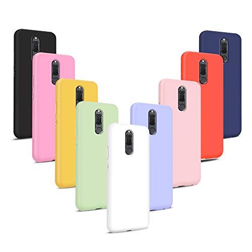 9X Cover per Huawei Mate 10 Lite, Morbido Silicone Case Tinta Unita Ultra Sottile Custodia TPU Flessibile Gomma Protezione Posteriore Antiscivolo Protettiva Skin Caso - 9 Colori