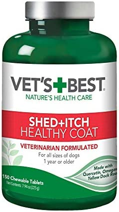 Vet's Best Healthy Coat Shed & Itch Relief Dog Supplements