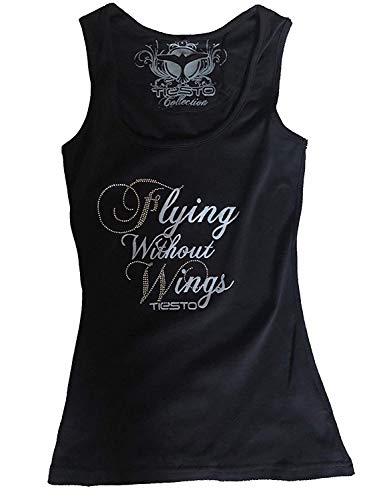 Tiesto - Flying Without Wings - Offiziell Strass Damen Unterhemd (T-Shirt) - Schwarz, Small