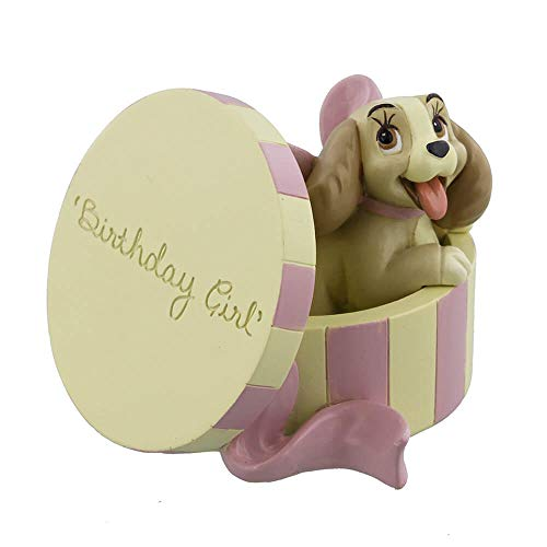 Disney Classics Lady In Hat Box Birthday Girl Figurine 8cm Boxed New - Magical Moments DI183