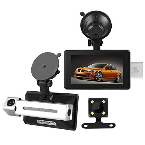 Tomanbery Sensor G de 3 Ejes, Doble Lente, DVR, cámara, grabadora, HD 1080P, Gran Capacidad, supercondensador, conexión inalámbrica, Soporte, Descarga de la aplicación