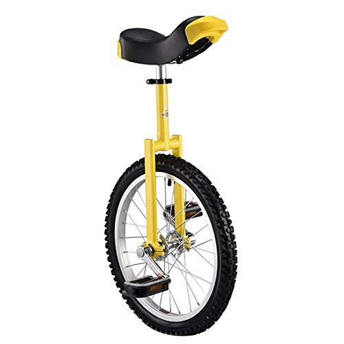 MXSXN 16/18/20/24 Zoll Einrad Höhenverstellbarer, Rutschfester Butyl Mountain-Reifen Balance Übung Spaß Fitness for Erwachsene Kinder,16in
