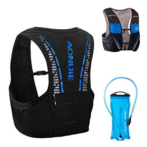 TRIWONDER 5L Trinkrucksack mit Trinkblase, Ultraleicht Laufrucksack für Marathon, Bergläufe, Radfahren (Blau&Schwarz, L/XL - 89.4-98.5cm)
