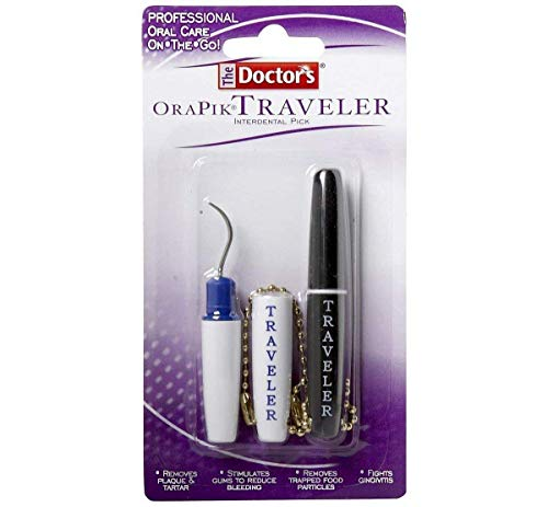The Doctor's Orapik Traveler Interdental Pick | Assorted Colors | 2-Count per Pack | 1-Pack