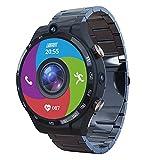 1,6 Pulgadas Pantalla Smart Watch Teléfono 4GB + 128GB 900Mah Android 10 WiFi GPS Reloj Inteligente Hombres para Android iOS,A