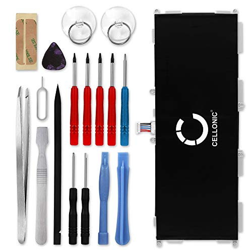 CELLONIC® Premium Akku kompatibel mit Samsung Galaxy Tab 4 10.1 inkl. Werkzeug-Set (SM-T530/SM-T531/SM-T533/SM-T535) (6000mAh) EB-BT530FBU Ersatzakku Batterie Tabletakku