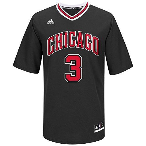 NBA Men's Chicago Bulls Dwayne Wade Replica Player Alternate Road Jersey, X-Large, Black