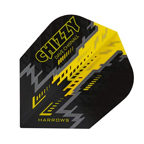 Harrows darts flights prime chizzy black yellow