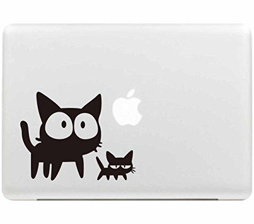 Sticker Adhesivos para Macbook, Desprendibles Creativo Negro Dibujos Animados Art Calcomanía Pegatina Compatible con MacBook Pro/Air 13 Pulgadas Portátil CF-85 (I)