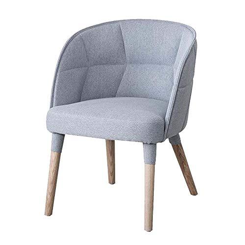 Towero Nordic hochwertiges Massivholz Esszimmerstuhl Hotelmöbel Liegestuhl Bürostuhl Konferenzraum Sessel gepolstert (Color : Gray)