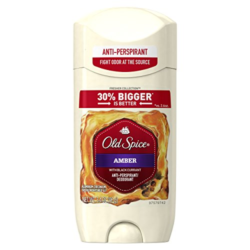 Old Spice Fresher Collection Invisible Solid Men's Antiperspirant and Deodorant, Amber, 3.4 Ounce