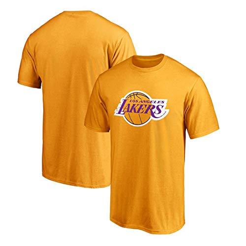 Los Angeles Laker - Camiseta de manga corta para entrenamiento de baloncesto y baloncesto, algodn, cmoda, resistente al calor amarillo S (160/165 cm)